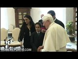 Lebanese Prime Minister Hariri met Pope Benedict XVI at the Vatican