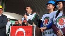 Çorum Şeker Fabrikası'nın özelleştirilmesi protesto edildi