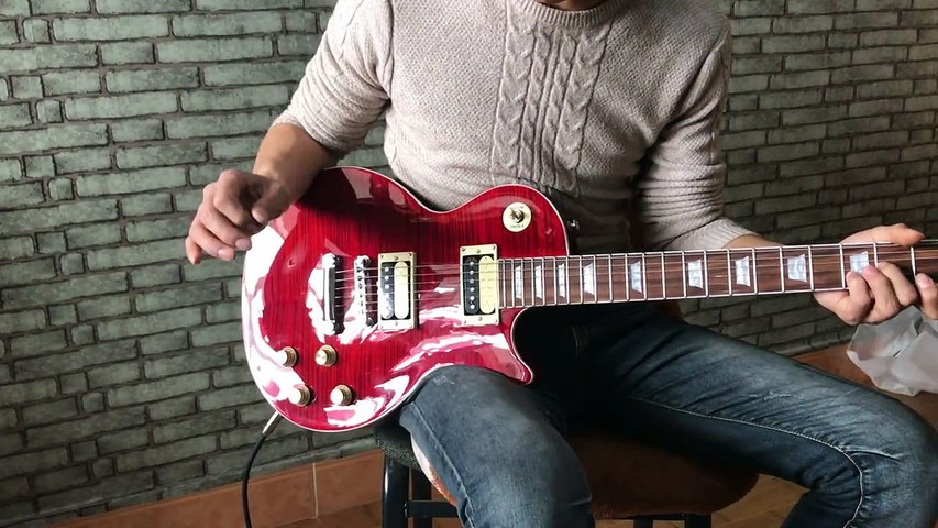 1959 R9 Fire Red Tiger Flame  Standard LP 59 electric guitar
