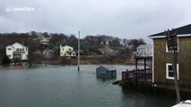 Massachusetts town hit with coastal flooding after winter storm