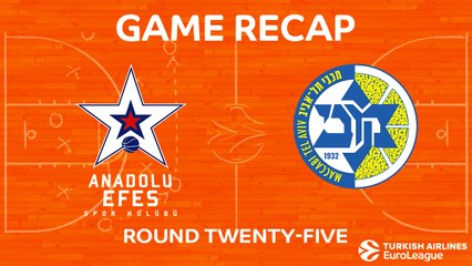 EuroLeague 2017-18 Highlights Regular Season Round 25 video:  Efes 81-94 Maccabi