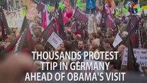Germans Protests TTIP Ahead of Obama's Visit