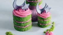 Pistachio Cake with Rose Frosting | Mini Cakes