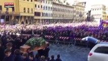 Davide Astori : liesse populaire à Florence pour les funérailles du footballeur (vidéo)