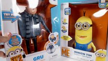 Minions Toys with Gru The Talking Genius & Minion Tim From Despicable Me 2
