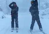 Rutgers Students Turn Severe Weather Into Winter Sport by Skiing Through the Streets