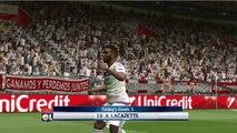 Sevilla vs Lyon Fantastic Goals 1-1 - Pes 17