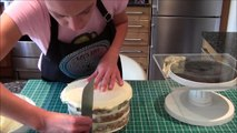 How to ganache a cake using the upside down method by Lets Eat Cake