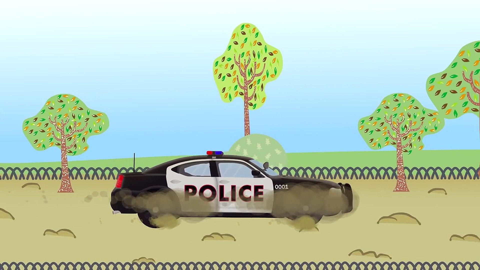 Car Wash | Myjnia Samochodowa - Wóz policyjny | Autko dla dzieci