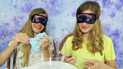 Whats in the Slime Challenge ~ Jacy and Kacy