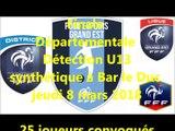 Finale Départementale Détection U13 à Bar le Duc - 8 mars 2018 - District Meusien de Football