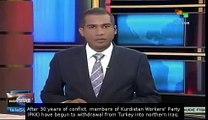 Kurdish PKK begins withdrawal from Turkey in peace