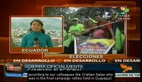 Ecuador: Presidential candidates are closing their campaigns