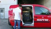 Equipamiento para una furgoneta de recarga para coches eléctricos
