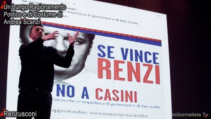 Dicesi Renzusconi, un mitico essere bifronte ideato da Scanzi? A Teatro...