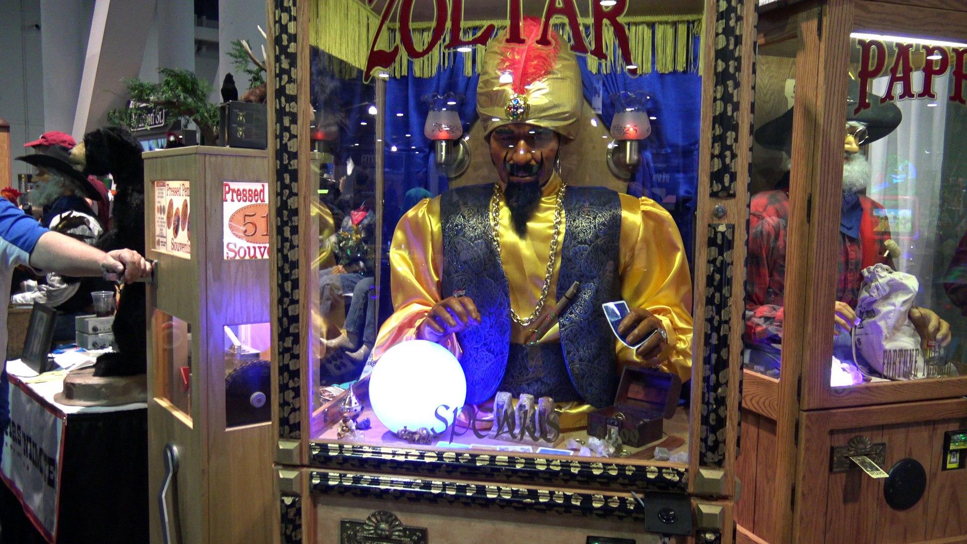 Halloween Fortune Teller Animatronic.Zoltar Fortune Teller Machines Other Animatronics By Characters Unlimited Amusement Expo 2018
