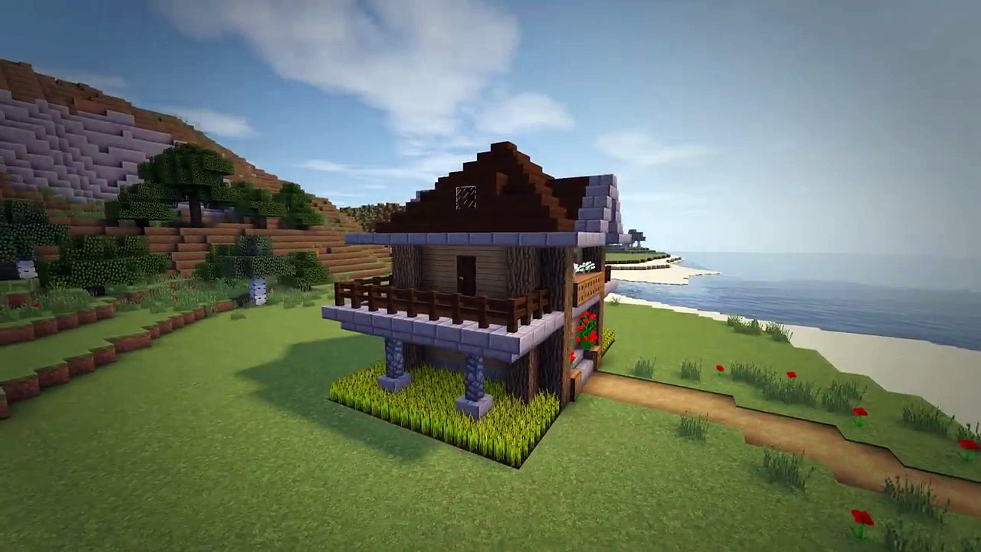 Minecraft How To Build A Survival Starter House Tutorial 6 Video Dailymotion