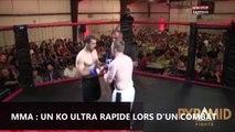 MMA : un KO ultra rapide lors d'un combat (vidéo)