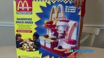 MCDONALDS HAMBURGER MAKER & McDonalds Cash Register Toys for Kids pretend Play Feed Pet Shark food