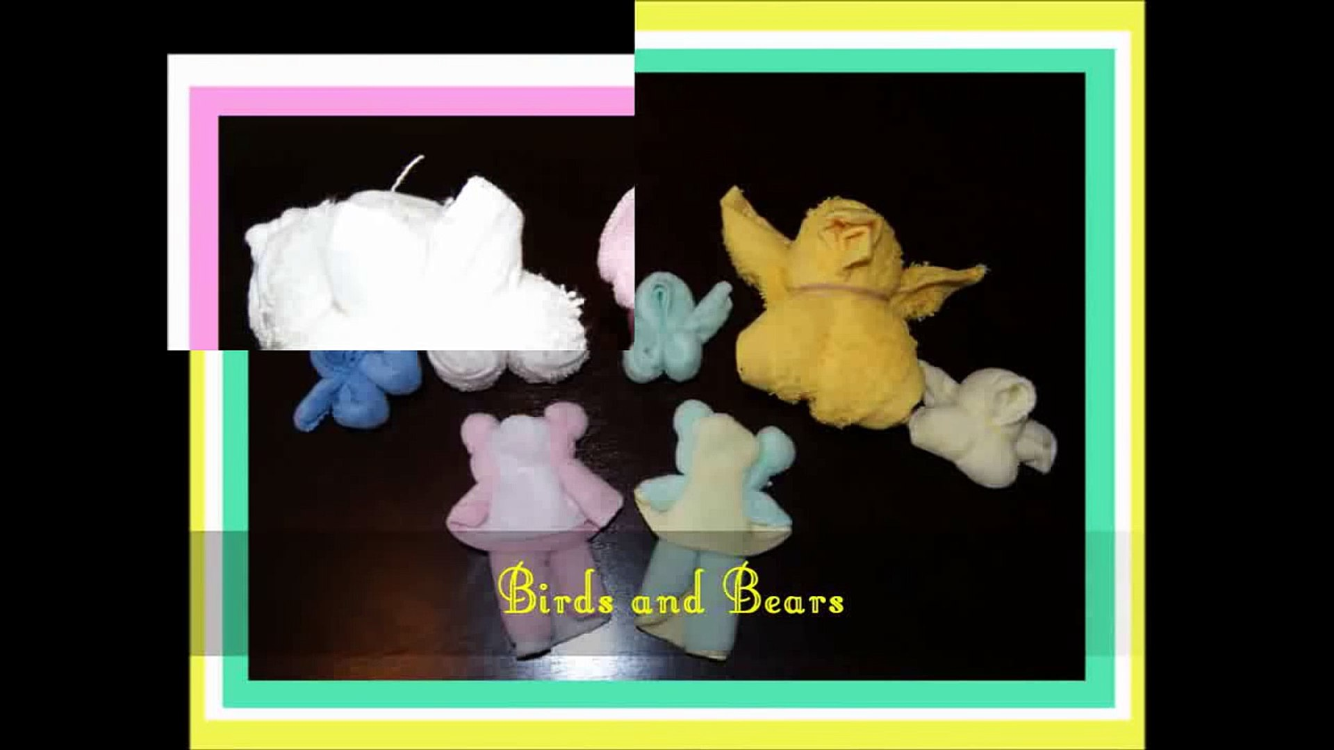 How To Make 5 Easy Washcloth Animals Video Dailymotion