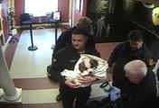 Ce couple emmène son chien en arret cardiaque dans un commissariat et les policier vont sauver l'animal! Héros du jour
