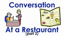 In a Restaurant | Actions | Easy English Conversation Price