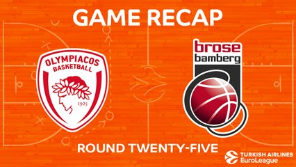 EuroLeague 2017-18 Highlights Regular Season Round 25 video: Olympiacos 87-79 Bamberg