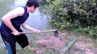 أقوى فخ لصيد الثعابين - تنظيف المنزل والحدائق The most powerful trap for snakes