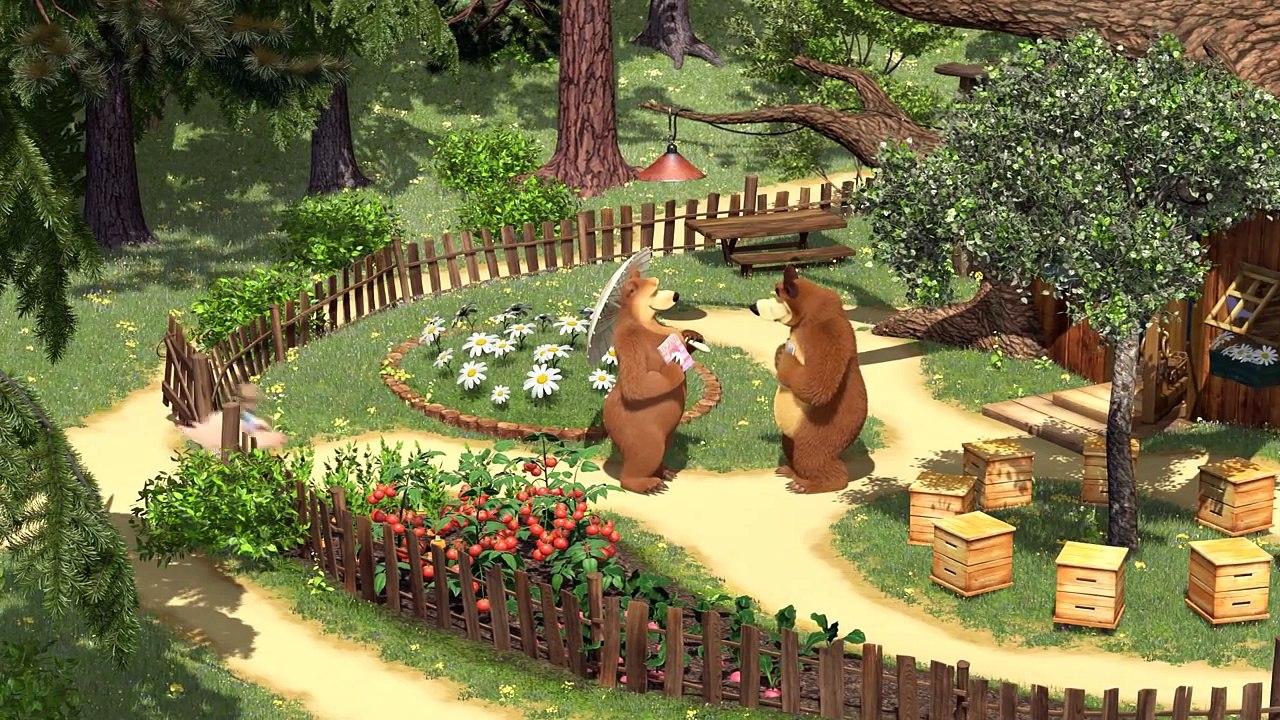 газетных картинки дэн и маша и медведь привлекает