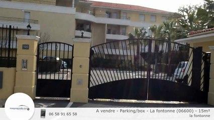 A vendre - Parking/box - La fontonne (06600) - 15m²