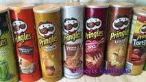 PRINGLES CHALLENGE! Potato Chip Flavors Tasting Contest Princess ToysReview Little Pony Egg Surprise