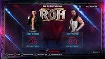 WWE 2K18 ROH 16th Anniversary Cody Vs Matt Taven