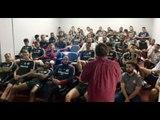 Comissão Técnica e jogadores do Internacional assistem à palestra sobre Árbitro de Vídeo