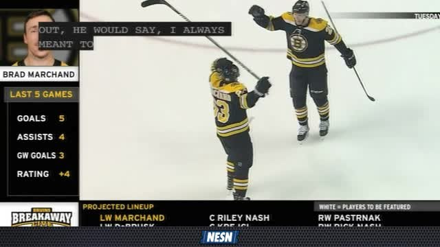 Brad Marchand Leads Bruins In The Absence of Patrice Bergeron