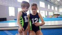New Gymnastics Floor Routines! Ft. Victoria & Sam