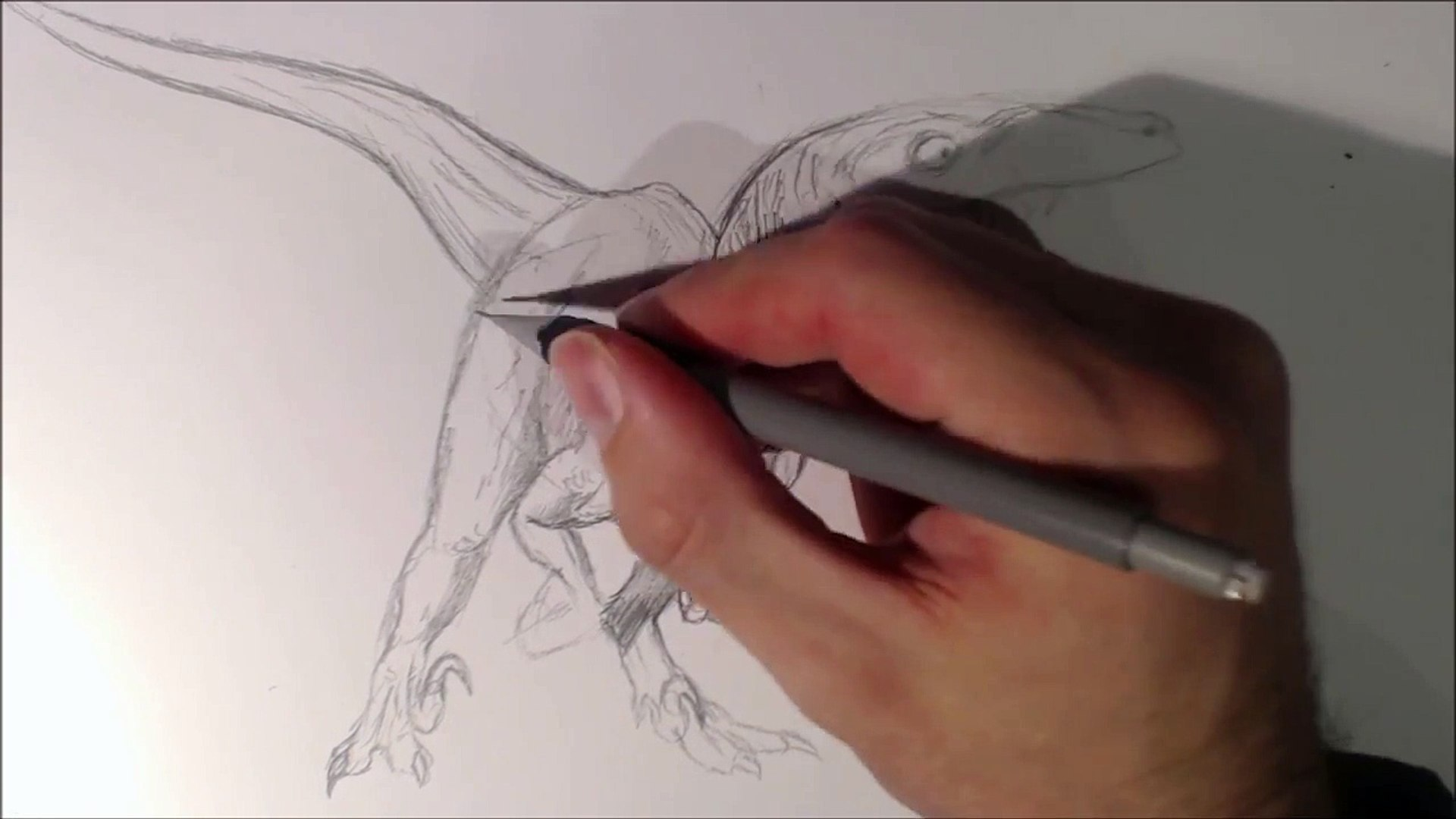 How To Draw Delta The Velociraptor From Jurassic World Video Dailymotion
