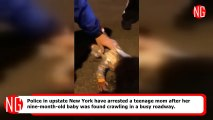 Infant Found Crawling Alone On Busy Street, Teen Mom Arrested