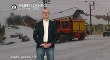 Tempête de neige le 12 mars 2013 dans le nord de la France.