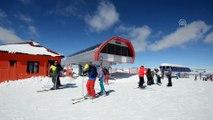 Cıbıltepe'de mart ayında kayak keyfi - KARS