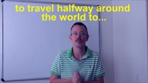 Learn English: Daily Easy English Expression 0528: travel halfway around the world to...