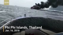 One killed, five seriously injured after speedboat carrying Chinese tourists explodes in Thailand