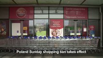 Stores closed as Poland phases out Sunday shopping