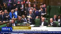 British lawmakers deal blow to Theresa May's Brexit plans