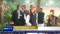 India's Congress party names Rahul Gandhi president