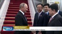 Russian President Vladimir Putin arrives in Xiamen for BRICS Summit