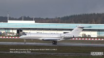 Bombardier Global 5000 - Global Jet Luxembourg [LX-MLO] Takeoff at Luxembourg Findel Airport
