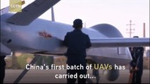 China's first batch of unmanned aerial vehicles conducts live-fire drills