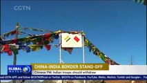 Chinese FM: Indian troops should withdraw