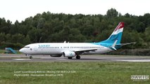 LUXAIR Luxembourg Airlines | Boeing 737-800 | Take off at Luxembourg Airport