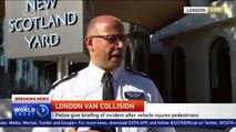 Police brief media after deadly van attack near London mosque